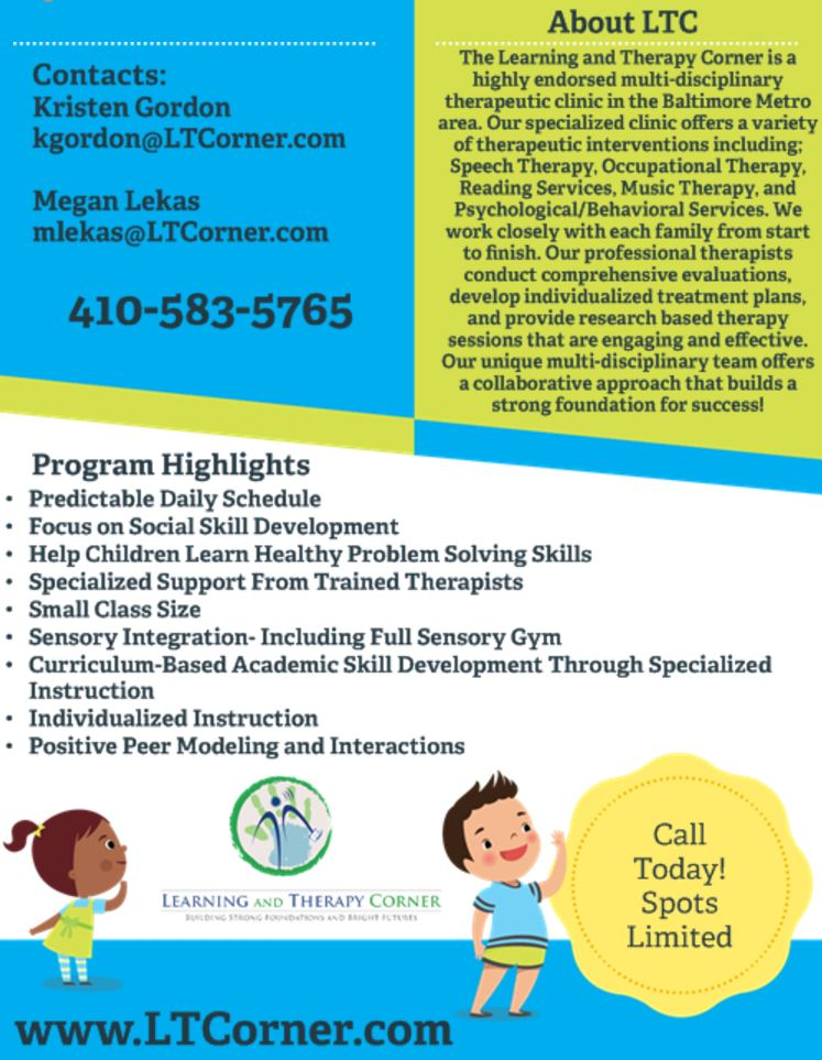 Speech Therapy Learning And Therapy Corner Lutherville Speech